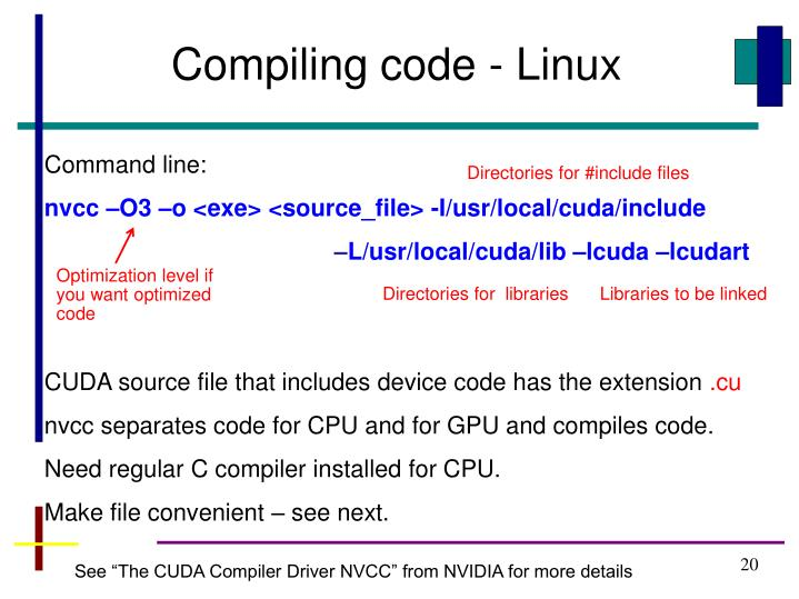 Compiling code - Linux