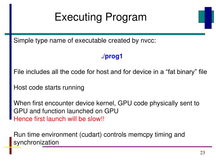 Executing Program