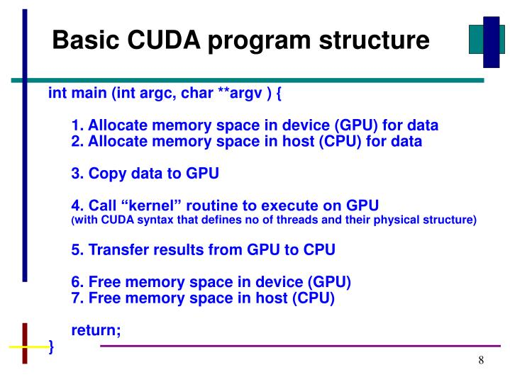 Basic CUDA program structure