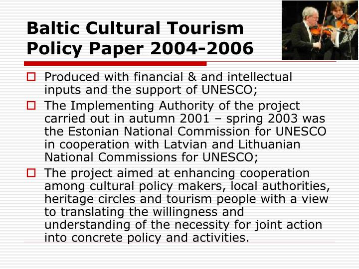 Baltic Cultural Tourism
