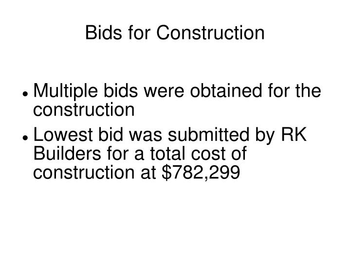 Bids for Construction