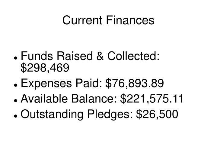 Current Finances