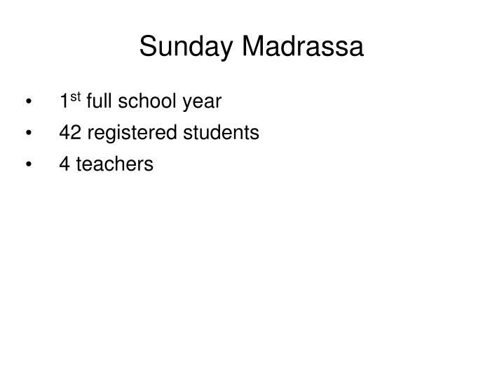 Sunday Madrassa