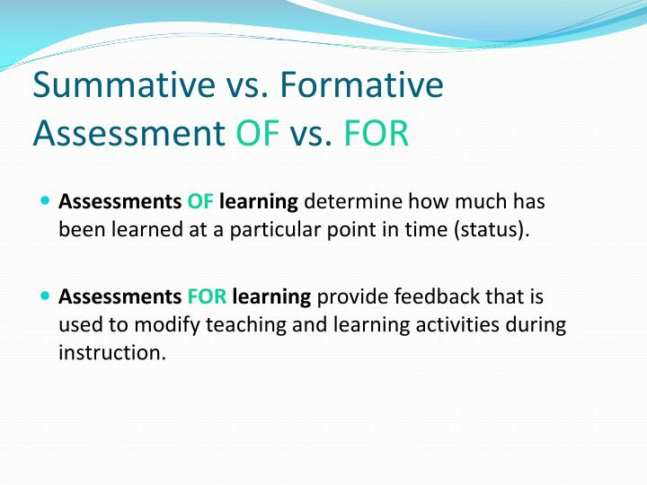 Summative vs. Formative