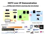 hdtv over ip demonstration 270mbps high definition streaming video from portland