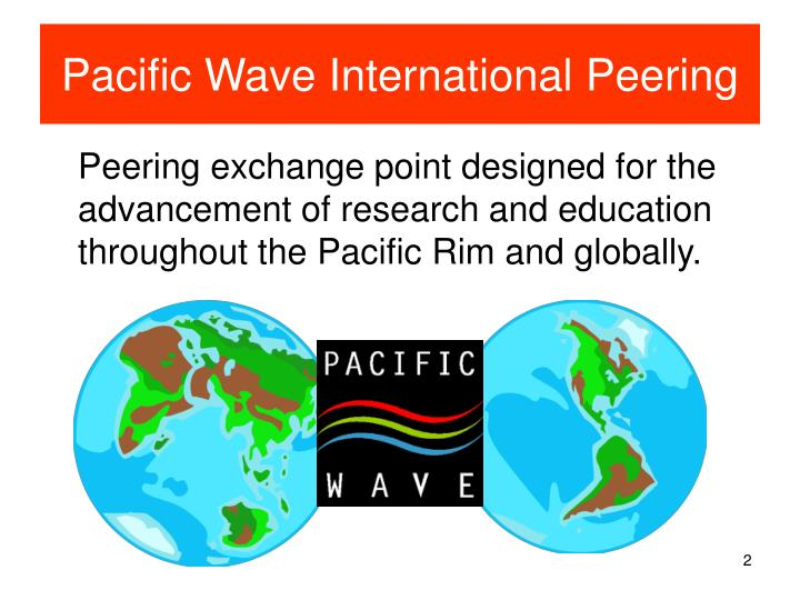 Pacific wave international peering