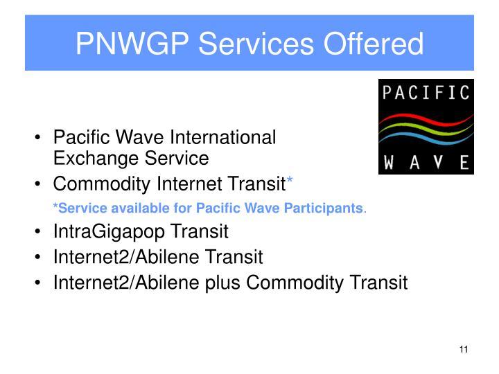 PNWGP Services