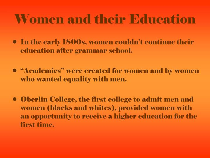 Women and their Education