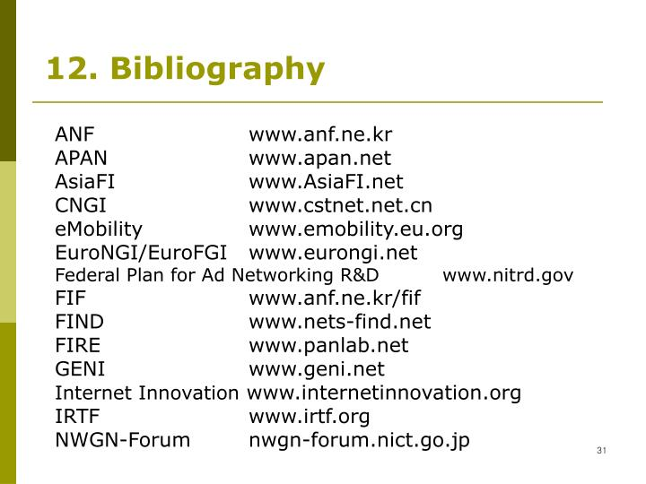 12. Bibliography