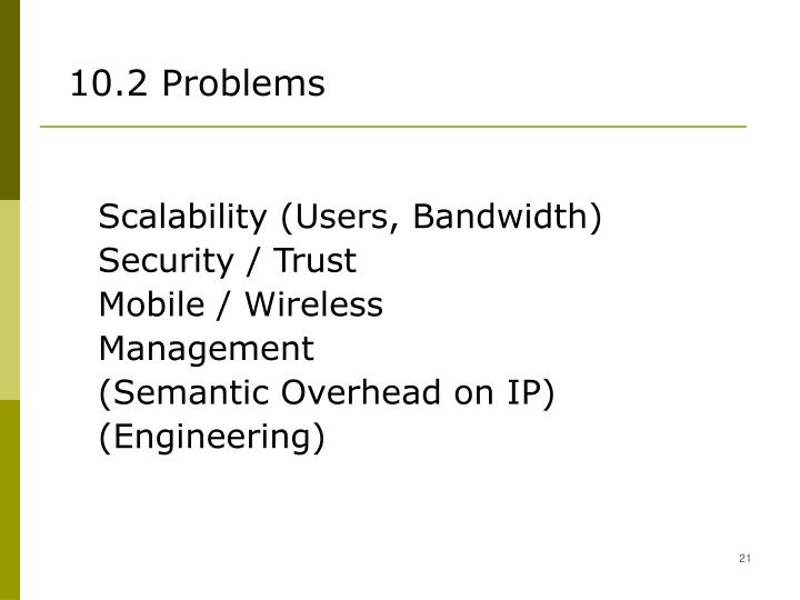 10.2 Problems