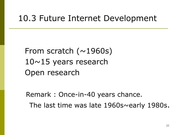 10.3 Future Internet Development