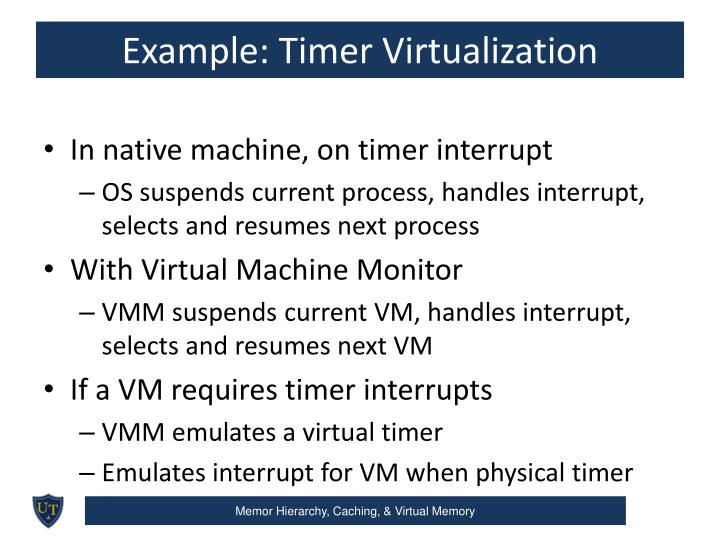 Example: Timer Virtualization