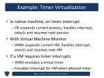 example timer virtualization