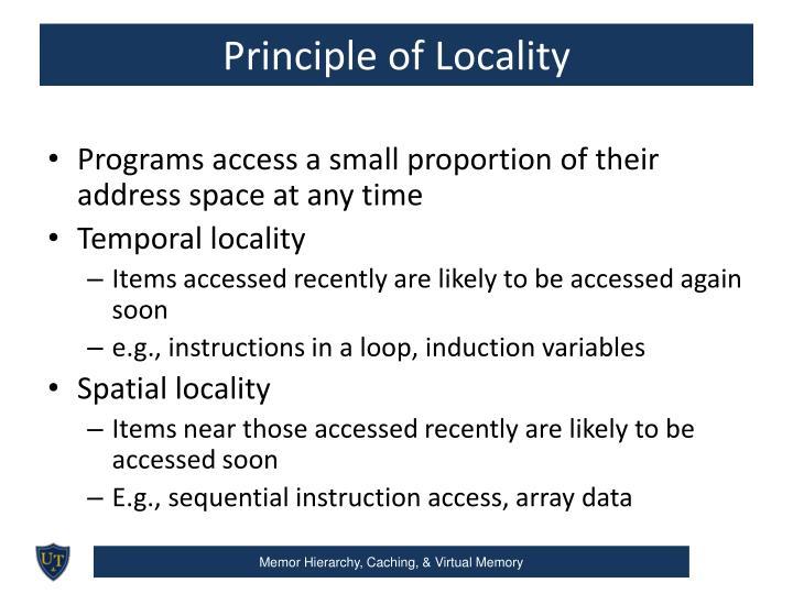 Principle of Locality