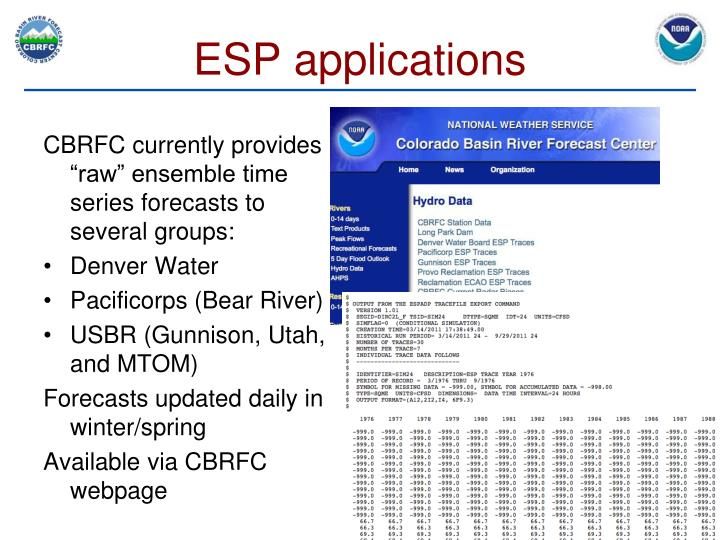 ESP applications