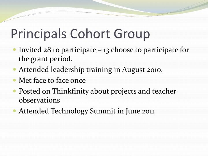 Principals Cohort Group