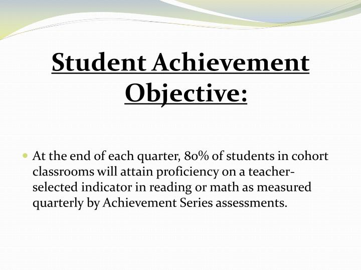 Student Achievement Objective: