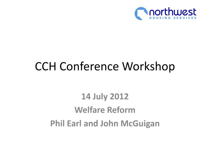 Cch conference workshop