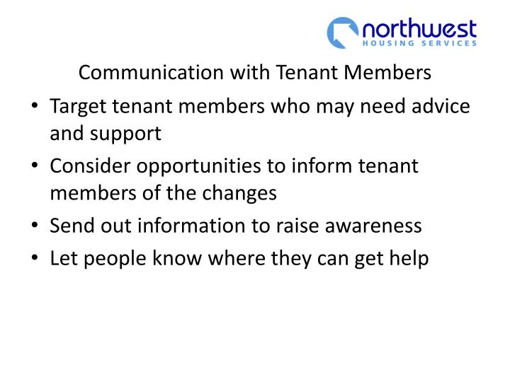 Communication with Tenant Members