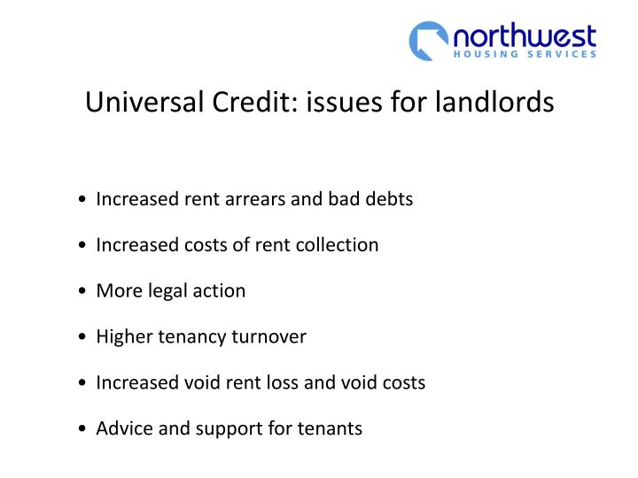 Universal Credit: issues for landlords