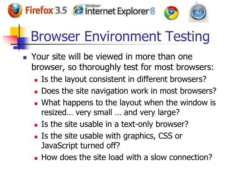 Browser Environment Testing