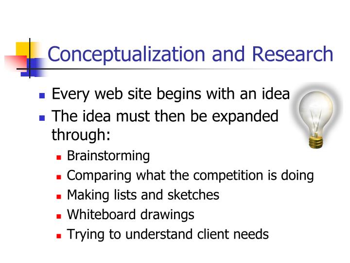 Conceptualization and research