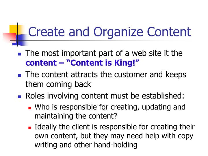 Create and Organize Content