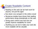 create readable content