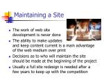 maintaining a site