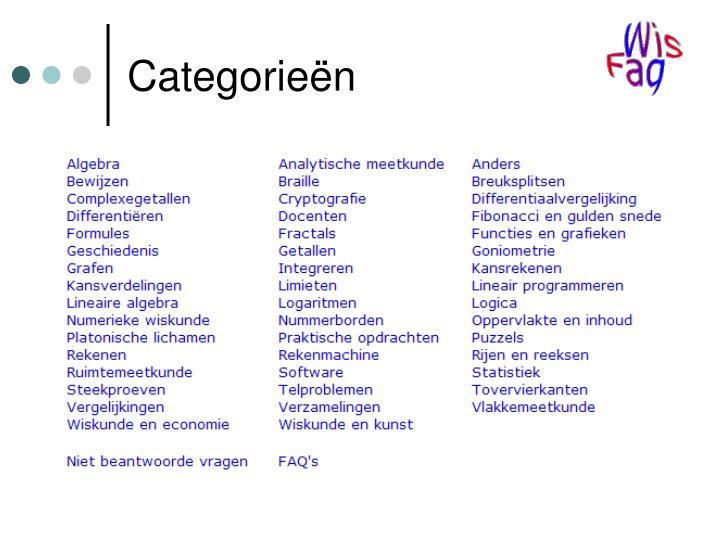 Categorieën