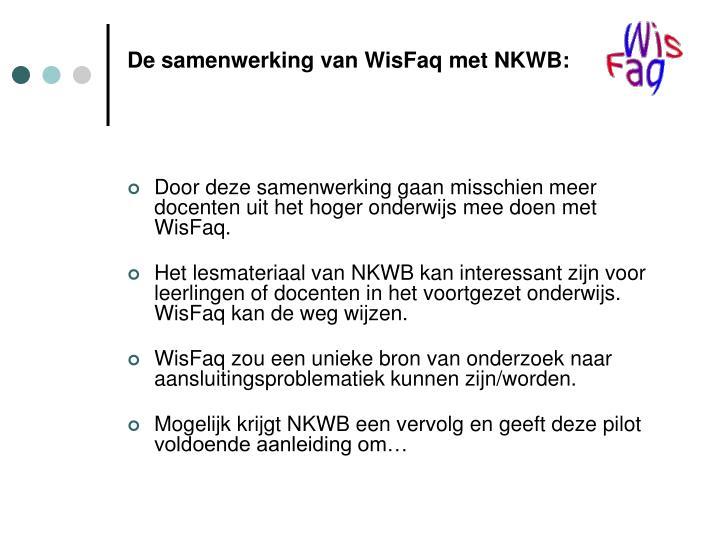De samenwerking van WisFaq met NKWB: