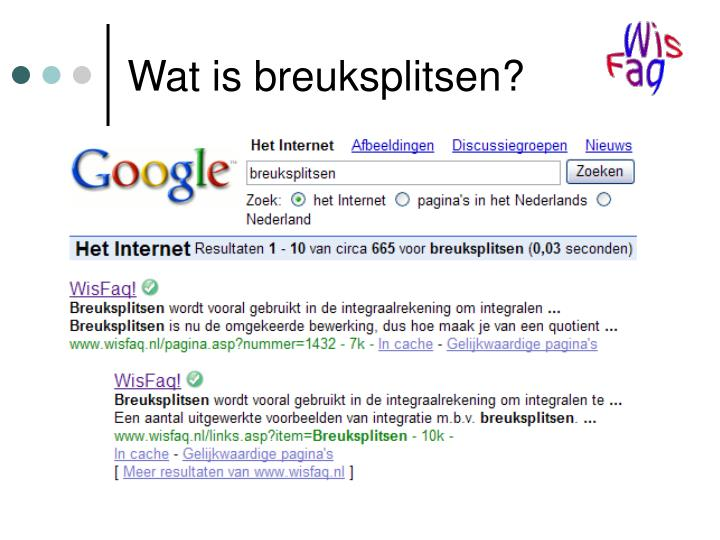 Wat is breuksplitsen?