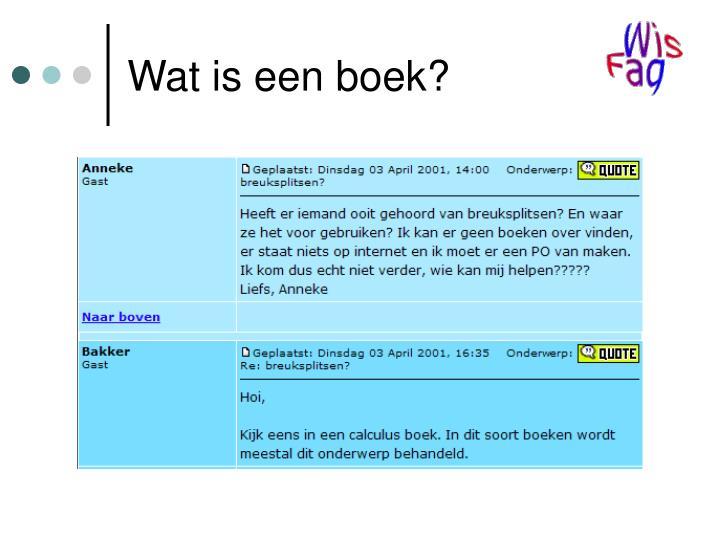 Wat is een boek?