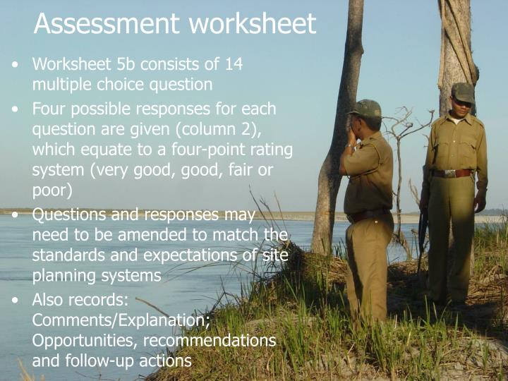 Assessment worksheet