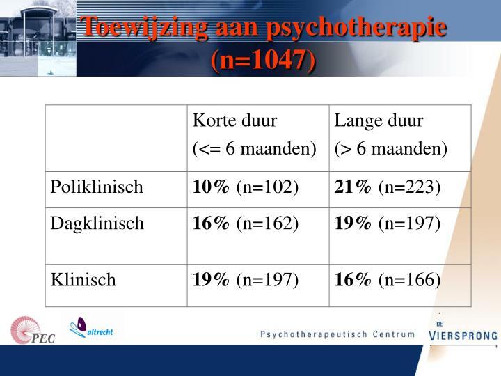 Toewijzing aan psychotherapie