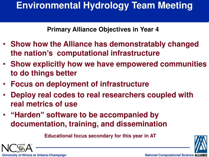 environmental hydrology team meeting