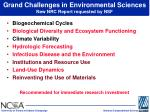 grand challenges in environmental sciences new nrc report requested by nsf