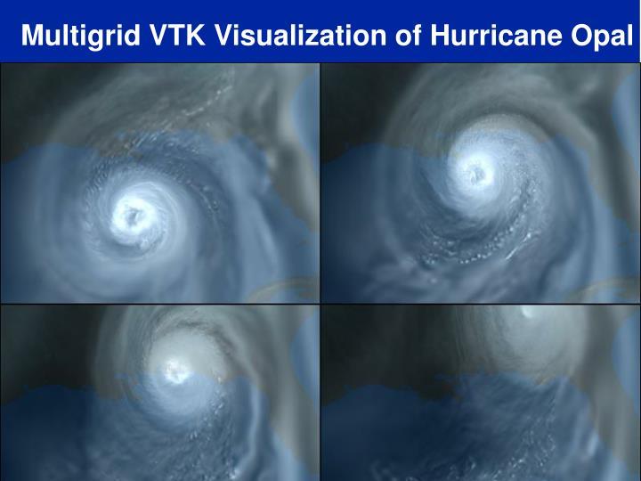 Multigrid VTK Visualization of Hurricane Opal
