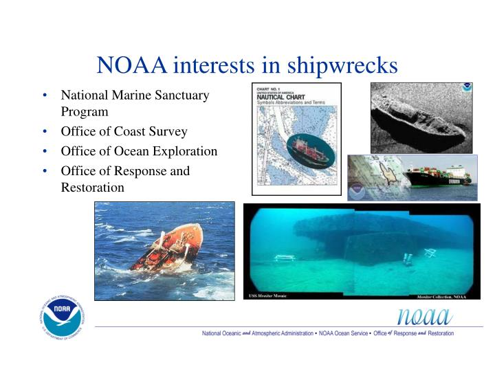 NOAA interests in shipwrecks