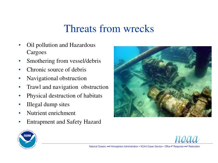 Threats from wrecks