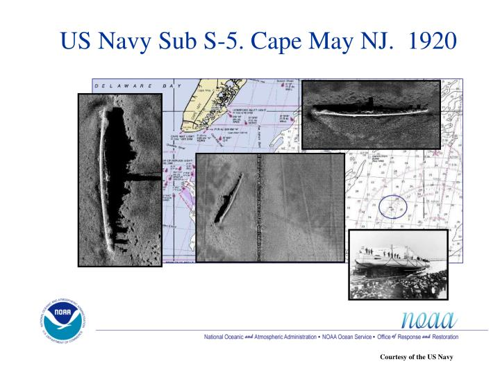 US Navy Sub S-5. Cape May NJ.  1920