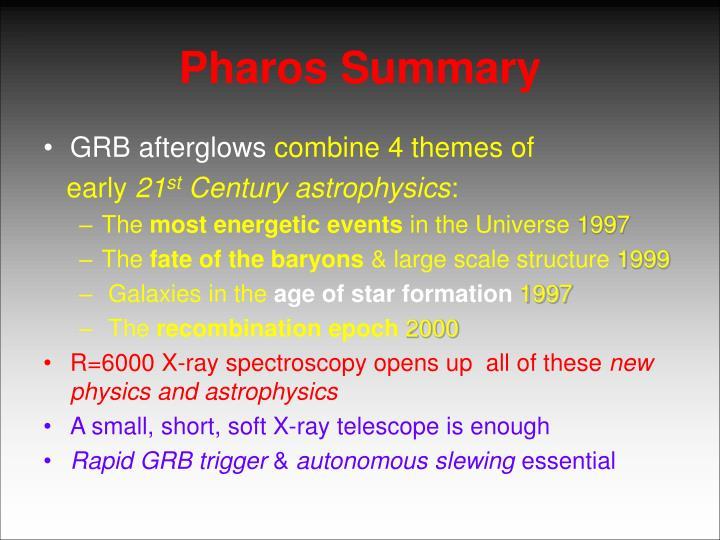 Pharos Summary