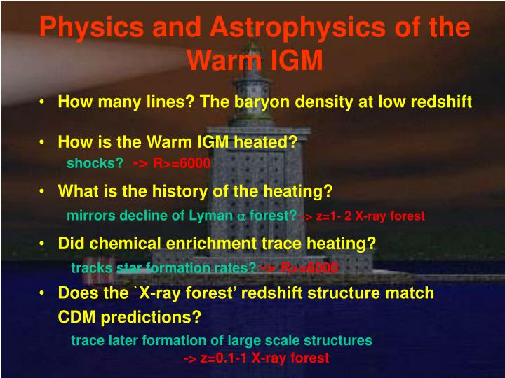 Physics and Astrophysics of the Warm IGM