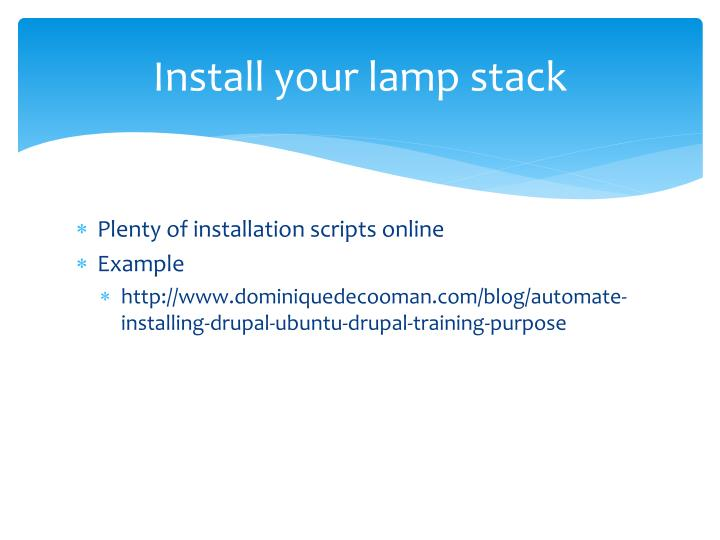 Install your lamp stack
