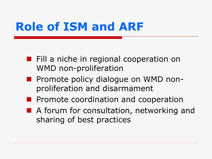 Role of ISM and ARF