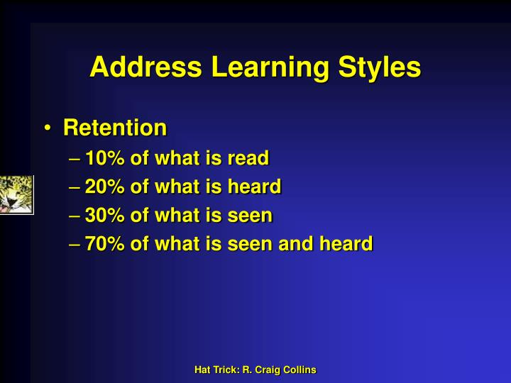 Address Learning Styles