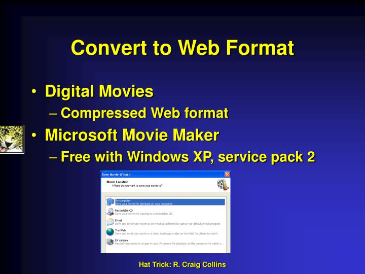 Convert to Web Format
