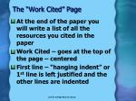the work cited page