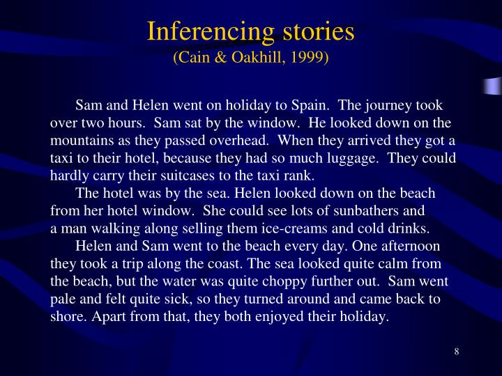Inferencing stories