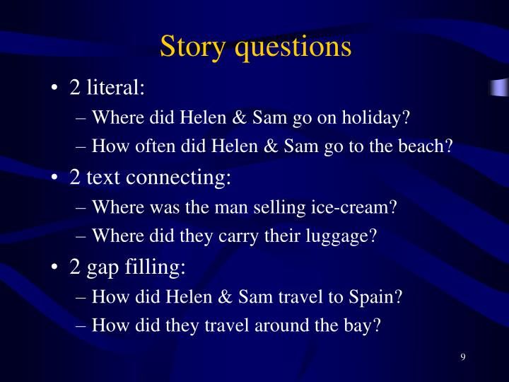 Story questions